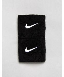 Nike Training | Комплект Из 2 Черных Тренировочных Напульсников С Галочкой Nike