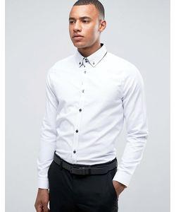Burton Menswear | Строгая Узкая Рубашка С Двойным Воротником