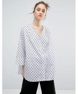Weekday   Жаккардовая Рубашка В Горошек