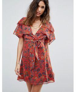 boohoo | Чайное Платье С Цветочным Принтом