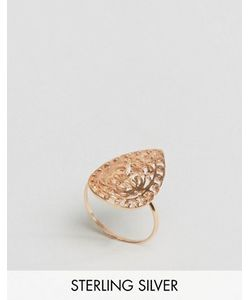 Asos   Серебряное Кольцо С Покрытием Из Розового Золота И Филигранной Отделкой