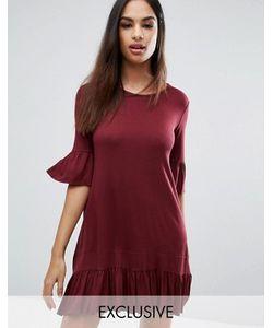 MISSGUIDED | Свободное Платье С Оборками На Рукавах И Кромке