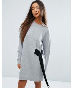 Asos | Платье-Свитшот Мини С Ремешком И D-Образным Кольцом