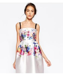 Hope and Ivy   Структурированное Платье С Цветочным Принтом