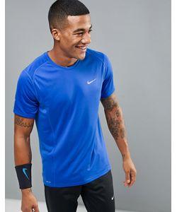 Nike Running | Синяя Футболка Dri-Fit Miler 683527-480
