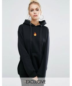 Adolescent Clothing | Oversize-Худи С Вышитым Огнем
