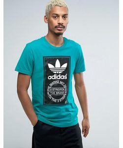 adidas Originals | Футболка С Камуфляжным Принтом Лейбла