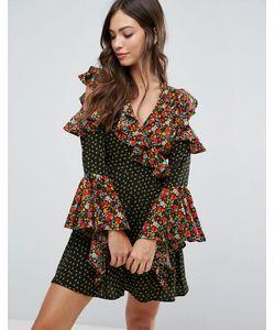 Influence | Платье С Открытыми Плечами И Оборками