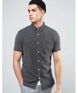 Solid | Фактурная Трикотажная Рубашка Классического Кроя С Короткими Рукавами