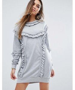 MISSGUIDED | Трикотажное Платье С Рюшами