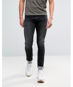 Nudie Jeans Co | Черные Выбеленные Джинсы