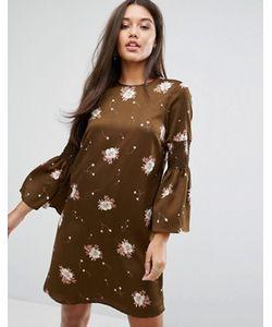 Y.A.S. | Платье С Длинными Расклешенными Рукавами Y.A.S
