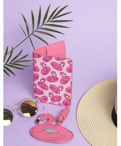 Skinnydip   Обложка Для Паспорта И Багажная Бирка С Фламинго