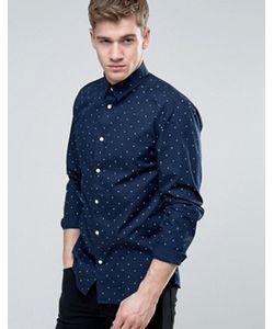 Jack & Jones | Узкая Рубашка С Мелким Принтом Core