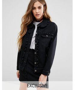 Reclaimed Vintage | Комбинируемая Джинсовая Куртка С Оборками