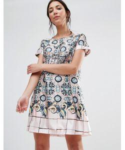 Traffic People   Цельнокройное Платье С Принтом