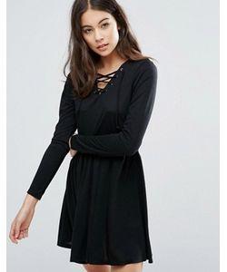 Brave Soul   Короткое Приталенное Платье С Завязкой