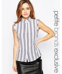 Alter Petite | Рубашка В Полоску С Оборками На Плечах