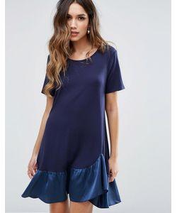 MISSGUIDED | Свободное Платье С Асимметричным Краем И Оборкой