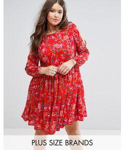 Koko | Платье С Открытыми Плечами И Цветочным Принтом Plus