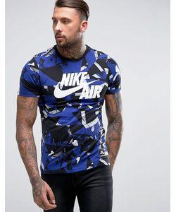 Nike | Синяя Футболка С Камуфляжным Принтом Air 834575-101