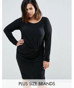 Junarose | Платье С Драпированной Отделкой Plus Sanja
