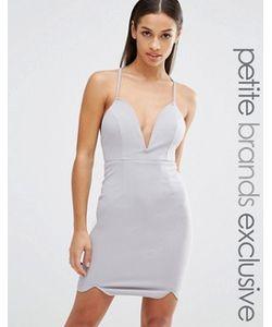 NaaNaa Petite   Облегающее Платье С Глубоким Вырезом И Бретельками
