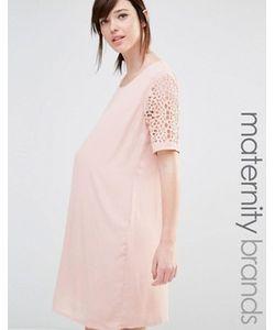 Mama Licious | Цельнокройное Платье С Лазерной Отделкой Рукавов Mamalicious