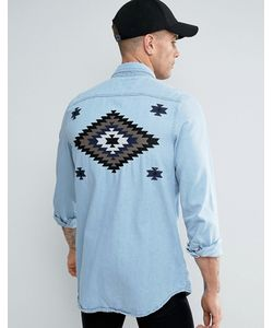 Liquor & Poker | Denim Shirt Embroide Taping