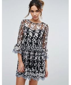 Lipsy   Короткое Приталенное Платье С Вышивкой