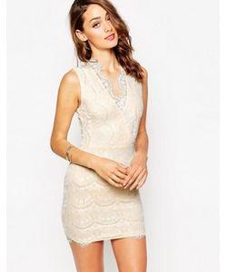 Sistaglam | Кружевное Платье Мини С Запахом Myra