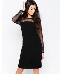 ICHI | Облегающее Платье С Полупрозрачными Рукавами