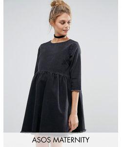 ASOS Maternity | Черное Выбеленное Платье С Присборенной Юбкой