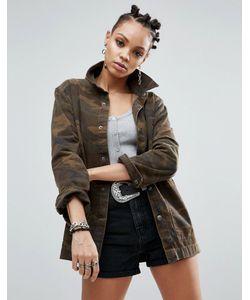 Asos | Джинсовая Куртка Камуфляжной Расцветки