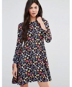 Yumi | Платье-Трапеция С Цветочным Рисунком