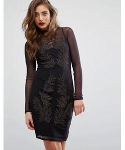 Miss Selfridge | Платье С Длинными Рукавами И Вышивкой