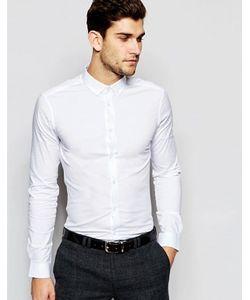 Asos | Рубашка Скинни С Воротником На Пуговицах