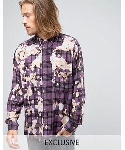 Reclaimed Vintage   Выбеленная Рубашка Классического Кроя