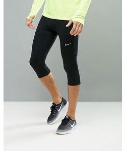 Nike Running | Черные Леггинсы Длиной 3/4 Essential 644254-011