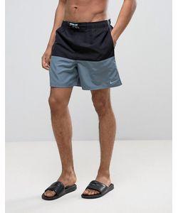 Nike | Черные Шорты Для Плавания В Стиле Колор Блок Ness7427 001