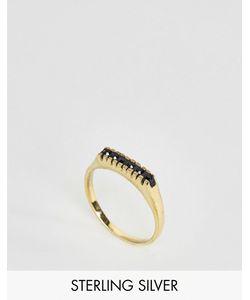 Asos | Позолоченное Серебряное Кольцо С Камнями
