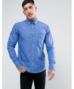 BOSS Orange | Синяя Приталенная Рубашка By Hugo Boss Classy