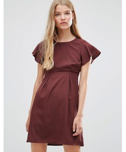 Vero Moda | Платье Шоколадного Цвета С Оборками Emma