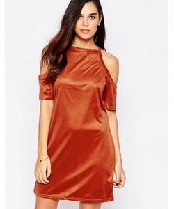AX Paris | Платье Из Искусственной Замши С Открытыми Плечами