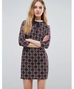 Qed London | Платье С Плиточным Принтом И Шнуровкой Спереди