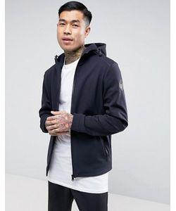 Napapijri | Addison Softshell Jacket Hooded Zipthru In Navy