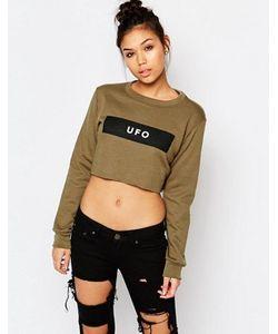 Adolescent Clothing | Укороченный Свитшот С Принтом Ufo