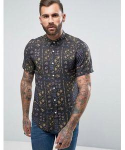 Asos | Рубашка Из Вискозы Классического Кроя С Винтажным Принтом