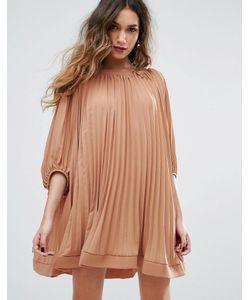 MISSGUIDED | Плиссированное Свободное Платье