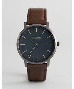 Nixon | Часы С Коричневым Кожаным Ремешком Porter